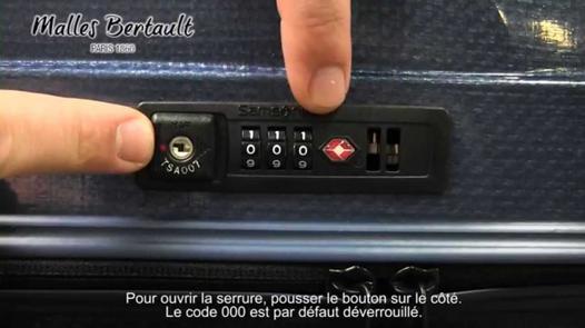 code valise samsonite