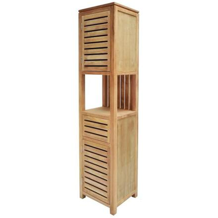 colonne salle de bain bois