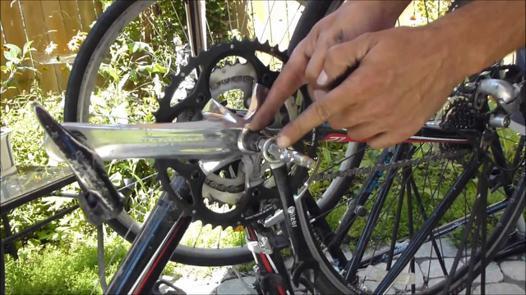 demontage pedale velo