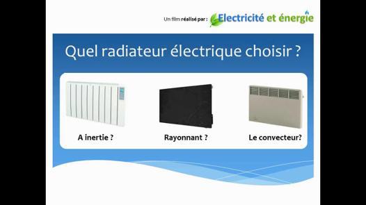 quel radiateur electrique choisir