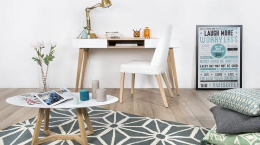 tapis salon scandinave