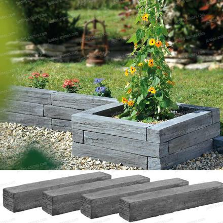 bordure de jardin en pierre